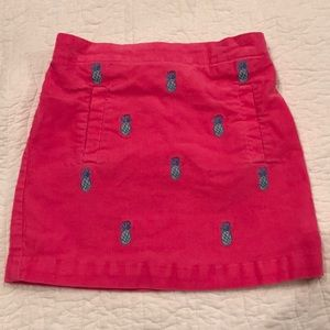 Vineyard Vines Pink Pineapple Skirt